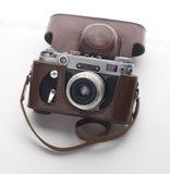 Fin d'old-fashioned de vintage d'appareil-photo de photo dessus Image libre de droits