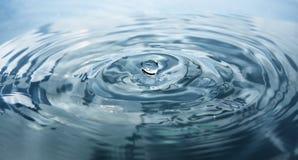 Fin de baisse de l'eau vers le haut Photo libre de droits
