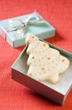 Fin de biscuit d'arbre de Noël vers le haut Photo libre de droits