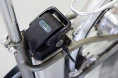 Fin de chargement complet de batterie de vélo  images stock