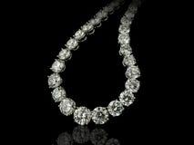 Fin de collier de diamants  Photographie stock libre de droits