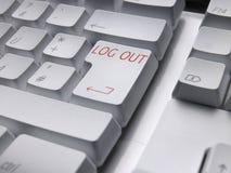 FIN DE COMUNICACIÓN del teclado fotografía de archivo