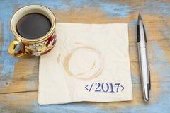 Fin de concept de 2017 ans Photo libre de droits