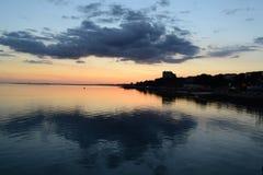 Fin de coucher du soleil photos stock