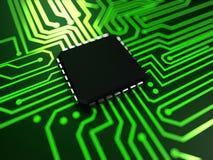 Fin de CPU vers le haut Photo libre de droits