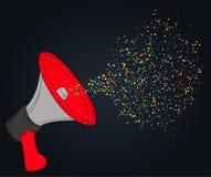 Fin de cri de vecteur avec des confettis illustration libre de droits