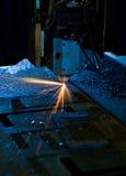 Fin de découpage de laser vers le haut Images libres de droits