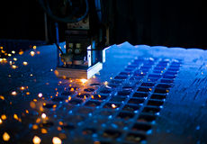 Fin de découpage de laser vers le haut Photographie stock