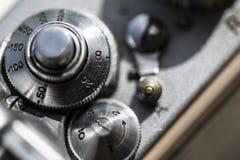 Fin de détail d'appareil-photo photographique  Photographie stock libre de droits