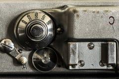 Fin de détail d'appareil-photo photographique  Images stock