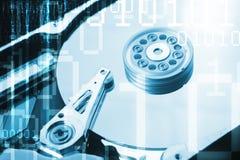Fin de disque dur d'ordinateur vers le haut de détail Image stock
