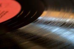Fin de disque de vinyle vers le haut de fond Photographie stock libre de droits