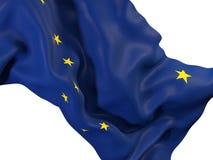 Fin de drapeau d'état de l'Alaska  Drapeaux de gens du pays des Etats-Unis Illustration Libre de Droits