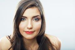 Fin de fille d'adolescent de beauté vers le haut de portrait Photos stock