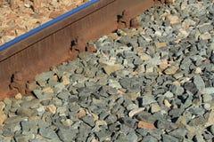 Fin de fragment de rail  Photos stock