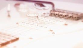 Fin de guitare électrique vers le haut Image stock