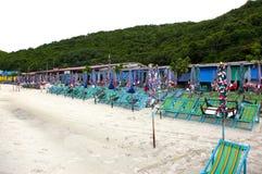 Fin de jour de plage Photos stock