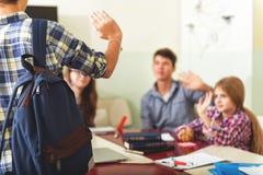 Fin de jour intéressant à l'école Image libre de droits