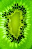 Fin de kiwi de noyau vers le haut Photos libres de droits