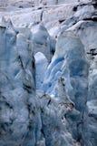 Fin de l'Alaska de glacier de Portage vers le haut images stock