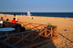 Fin de l'après-midi à la plage Images stock
