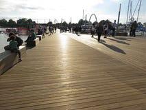 Fin de l'après-midi au dock tout neuf Photo libre de droits