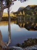 Fin de l'après-midi en parc national de montagne de berceau photographie stock