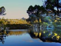 Fin de l'après-midi en parc national de montagne de berceau image libre de droits