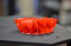 Fin de l'imprimante 3D imprimée par modèle rouge Image libre de droits