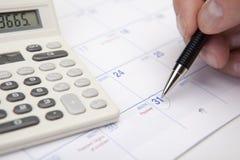 Fin de la planification financière de mois Image libre de droits