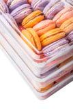 Fin de Macarons de Français vers le haut de la vue IV Images stock