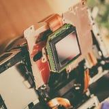 Fin de matrice de sonde d'appareil-photo  photographie stock
