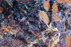 Fin de minerai d'améthyste  Images libres de droits