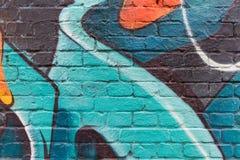 Fin de mur de graffiti vers le haut de macro Images libres de droits