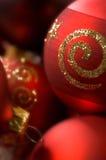 fin de Noël de babioles vers le haut Photographie stock