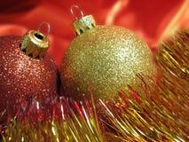 fin de Noël de billes vers le haut Images stock