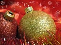 fin de Noël de billes vers le haut Photographie stock libre de droits