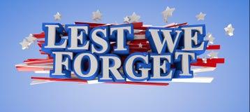 A fin de olvidemos Imagen de archivo libre de regalías