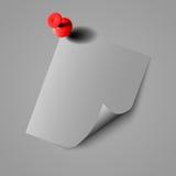 Fin de papier de note sur le fond blanc d'isolement EPS10 illustration de vecteur