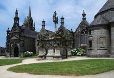 Fin de paroisse dans Guimiliau, Brittany Photo stock