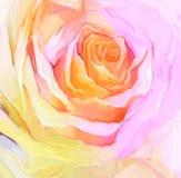 Fin de peinture à l'huile de rose de blanc Pétales peints à la main floraux illustration de vecteur