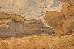 Fin de peinture à l'huile vers le haut de texture avec des courses de brosse Image libre de droits