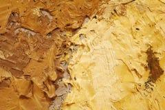Fin de peinture à l'huile vers le haut de texture avec des courses de brosse Photos stock
