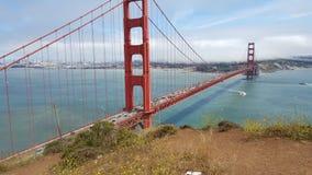 Fin de pont en porte d'or vers le haut Photo libre de droits
