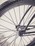 Fin de roue de bicyclette vers le haut Photographie stock libre de droits