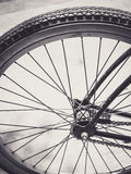 Fin de roue de bicyclette vers le haut Photo stock