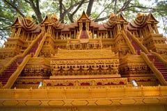 Fin de Sakon de la tradition prêtée bouddhiste. Images libres de droits