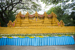 Fin de Sakon de la tradition prêtée bouddhiste. Images stock