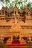 Fin de Sakon de la tradition prêtée bouddhiste. Photo stock