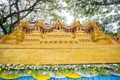 Fin de Sakon de la tradition prêtée bouddhiste. Photo libre de droits